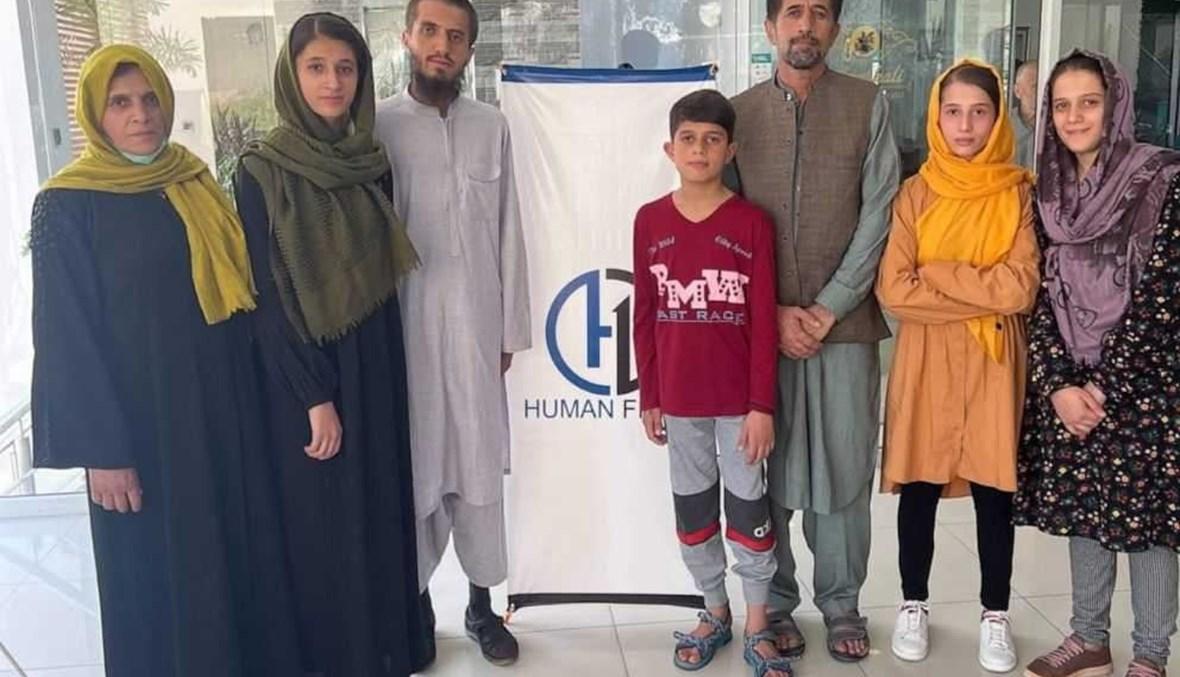 عائلة المترجم الأفغاني بعد إجلائه.