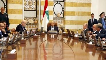 رئيس الجمهورية ميشال عون مترئساً جلسة مجلس الوزراء العادية في قصر بعبدا (دالاتي ونهرا).
