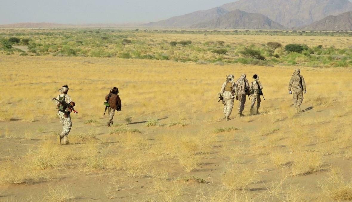 مقاتلون موالون للحكومة اليمنية في محافظة مأرب (أ ف ب).