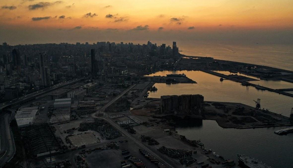 منطقة مرفأ بيروت (أ ف ب).