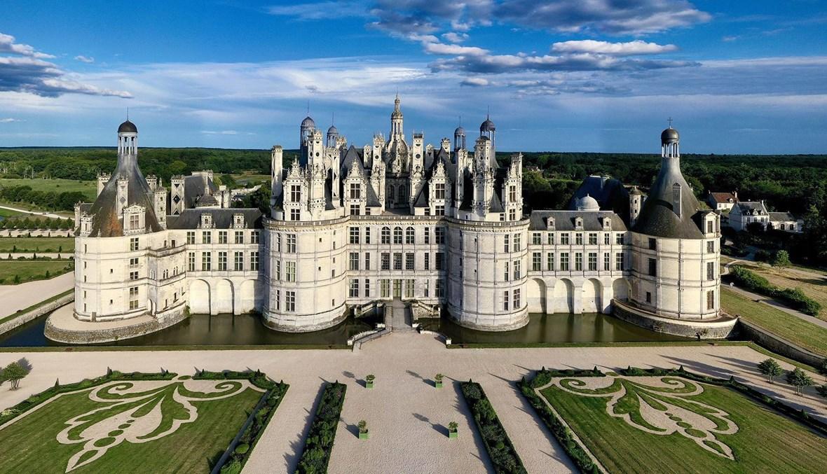قصر شامبور الملكي في منطقة وادي نهر اللوار- فرنسا.