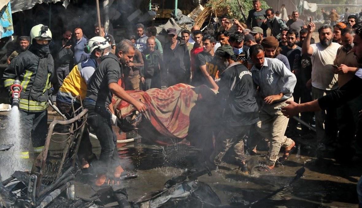 انفجار سيارة في شمال سوريا (ا ف ب)
