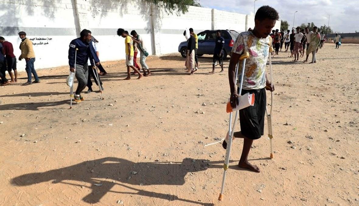لاجئ أفريقي في ليبيا (ا ف ب)