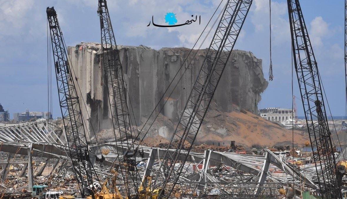أهراءات مرفأ بيروت المدمّرة (نبيل إسماعيل).