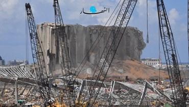 مرفأ بيروت المدمّر (نبيل إسماعيل).