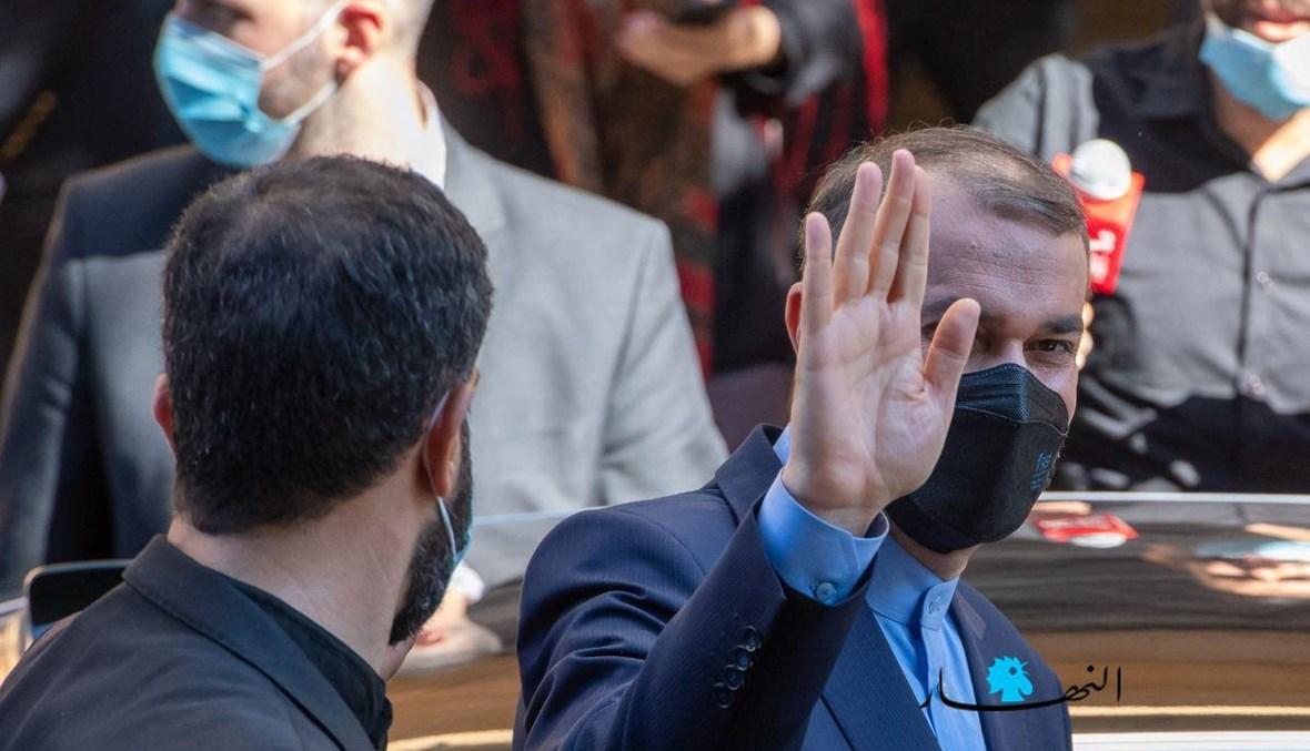 الوزير الإيراني حسين أمير عبداللهيان في لبنان (نبيل إسماعيل).