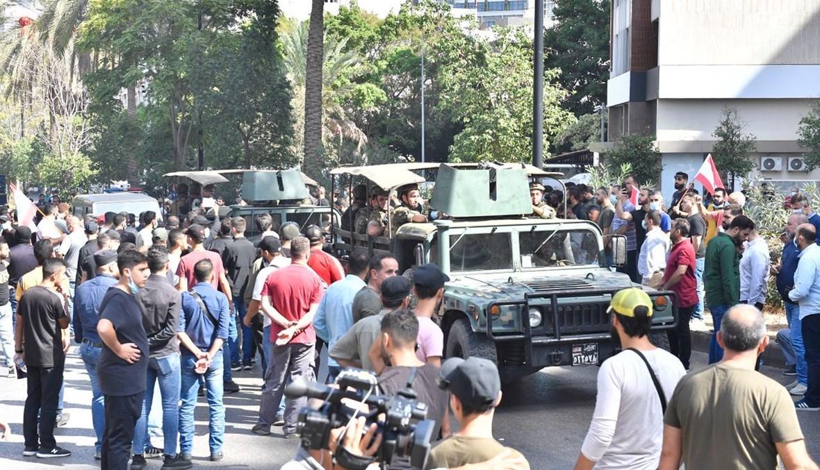 الجيش في محيط الطيونة (تصوير نبيل اسماعيل)