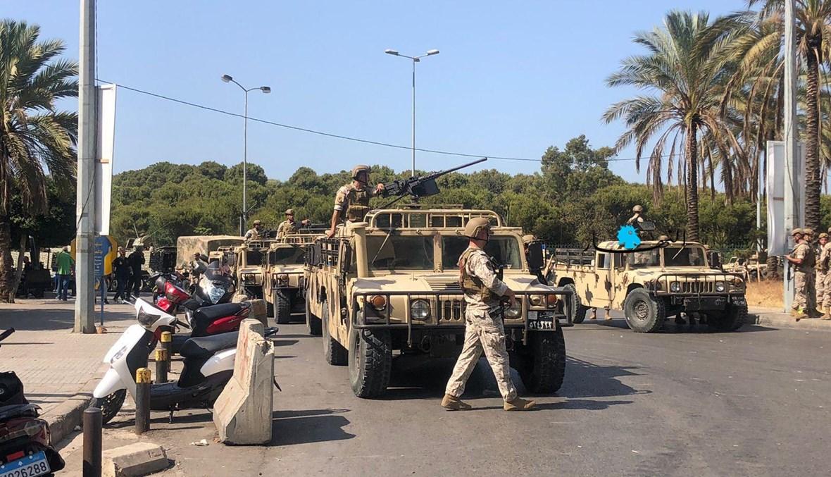 انتشار الجيش في محيط الطيونة (نبيل إسماعيل)