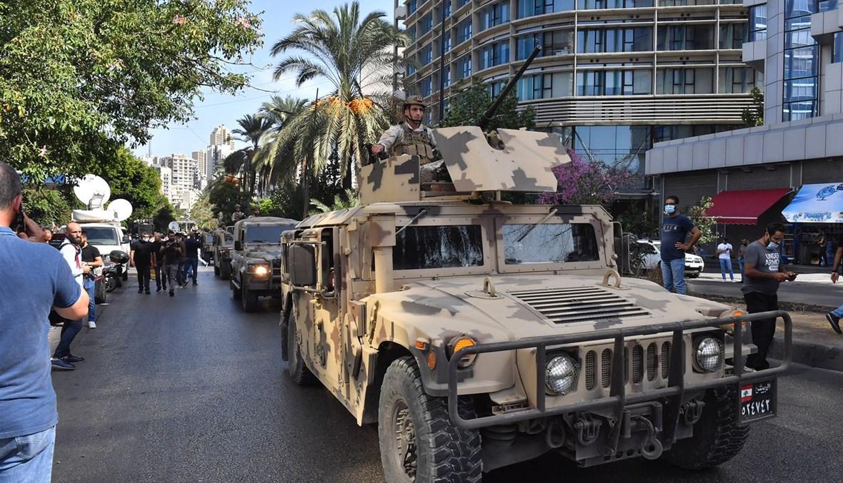 الجيش اللبناني في الطيونة (تصوير نبيل اسماعيل)