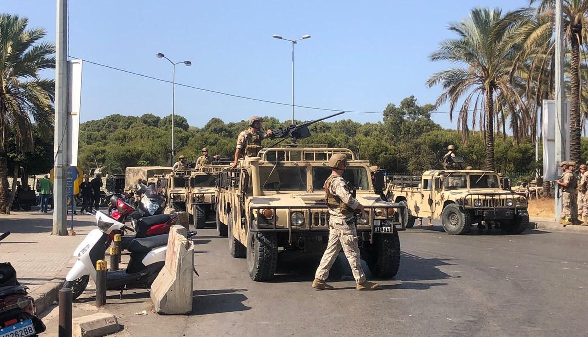 الجيش من محيط الطيونة (نبيل اسماعيل).
