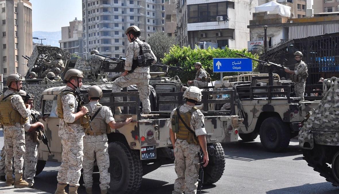 انتشار للجيش في محيط الطيونة (نبيل إسماعيل).