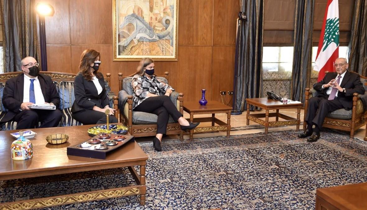 بري يلتقي نائبة وزير الخارجية الأميركي للشؤون السياسية فيكتوريا نولاند.