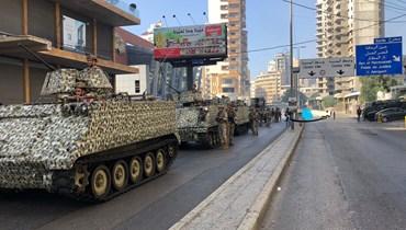 الجيش ينتشر في محيط الطيونة عين الرمانة بعد اشتباكات لساعات (نبيل اسماعيل).