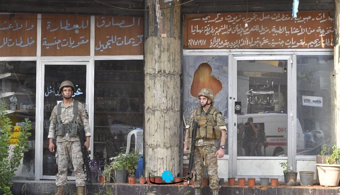 انتشار لعناصر الجيش في الشياح (نبيل إسماعيل).