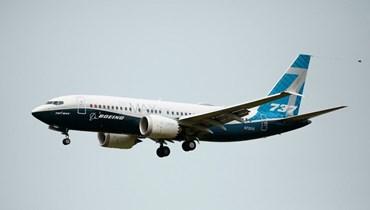 طائرة بوينغ 737 ماكس في سماء سياتل (أ ف ب).