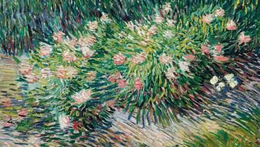 """لوحة """"زاوبة من حديقة مع فراشات"""" لفان غوغ (1887)"""