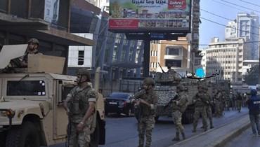 الجيش ينتشر في محيط الطيونة (نبيل اسماعيل).