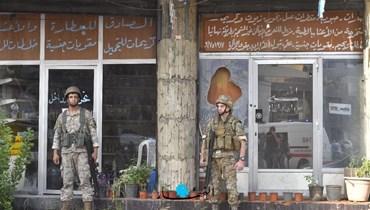انتشار لعناصر الجيش في الشياح بعد أحداث الطيونة (نبيل إسماعيل).