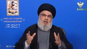 نصرالله: جعجع أكبر تهديد للمسيحيين... ولدينا مئة الف مقاتل