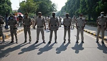 الشرطة البنغلاديشية في نيودلهي (أ ف ب).