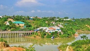 مخيم للاجئين الروهينغا في كوتوبالونغ (أ ف ب).