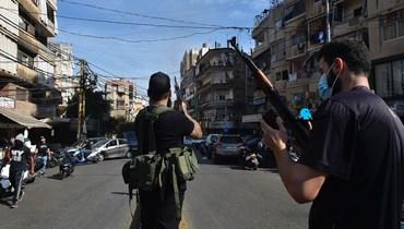 من تشييع ضحايا أحداث الطيونة (نبيل اسماعيل).