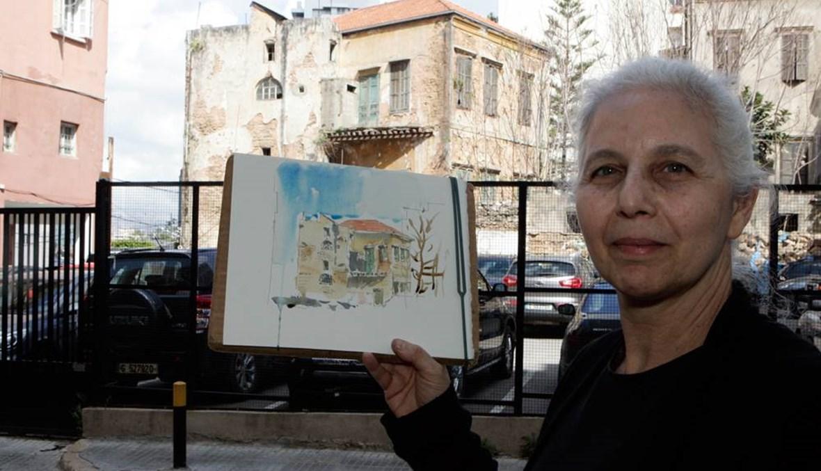 مهى نصرالله مهندسة تحمي ذاكرة بيروت بالريشة والألوان