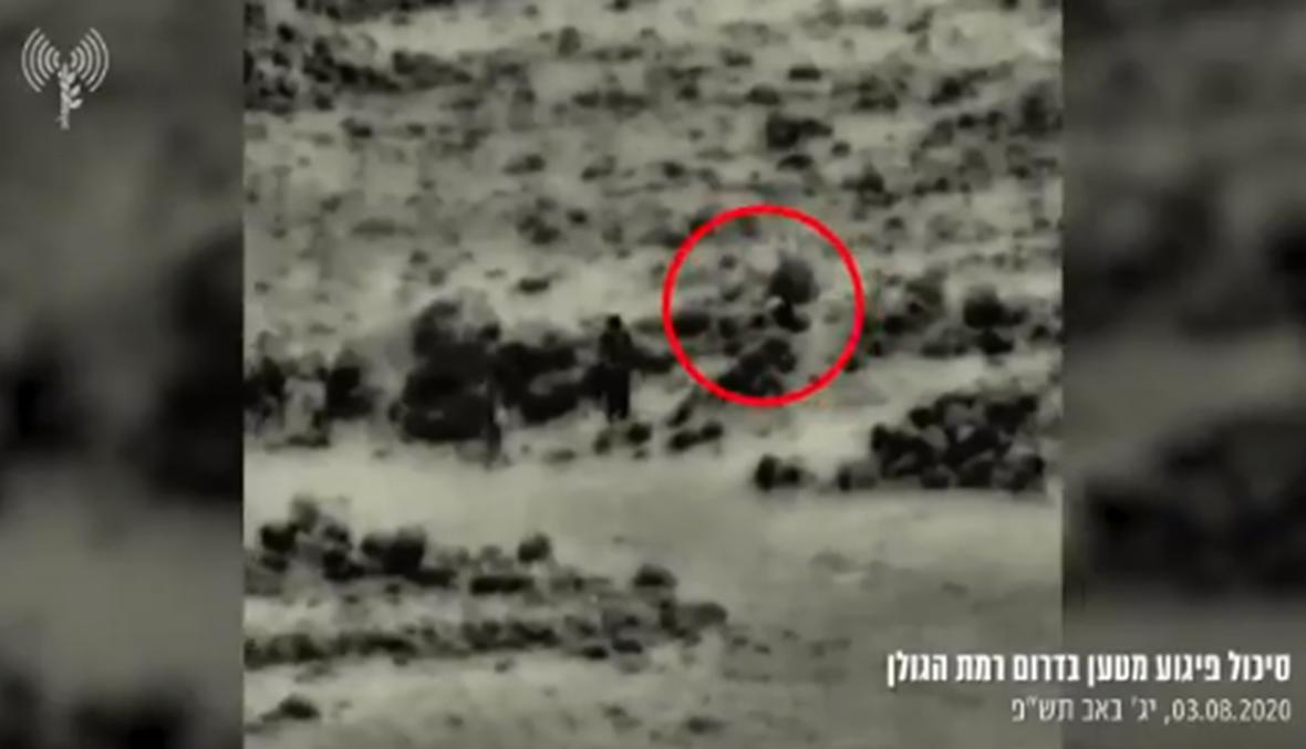بالفيديو: إسرائيل تستهدف مجموعة مسلحة تزرع عبوات ناسفة عند الحدود مع سوريا