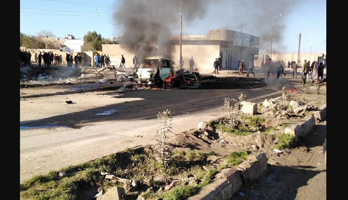 انفجار مركبة ملغومة قرب رأس العين بسوريا... خمسة إلى تسعة قتلى