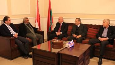 أسامة سعد التقى  وفدا من الحزب التقدمي الاشتراكي