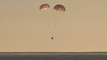 """""""دراغون"""" تحط في المحيط الهندي عائدة من محطة الفضاء الدولية"""