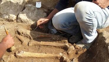 """هياكل بشرية وعظام تم اكتشافها في حفريات """"متحف بيروت""""حلاق لـ""""النهار"""":امتداد لـمقابر إسلامية من """"بيبلوس"""" إلى """"الريفولي"""""""