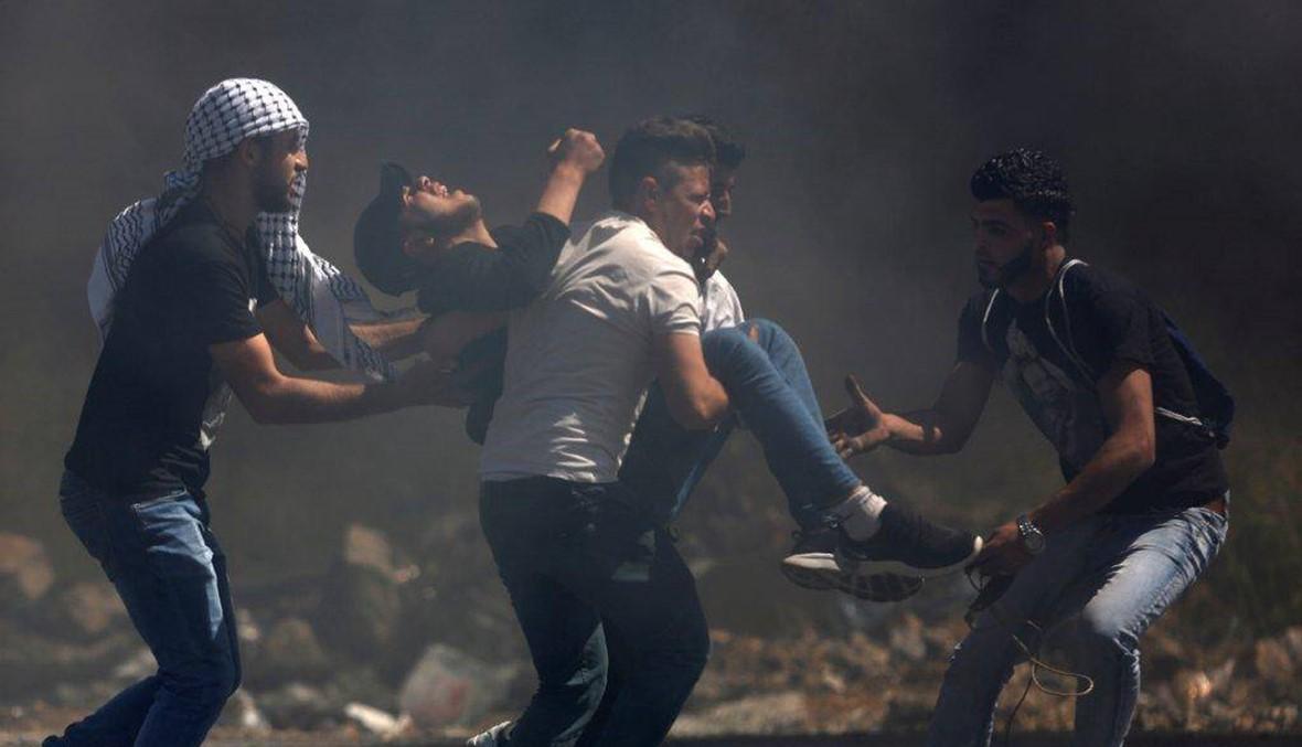 رام الله: مواجهات عنيفة بين متظاهرين فلسطينيين والجنود الاسرائيليين