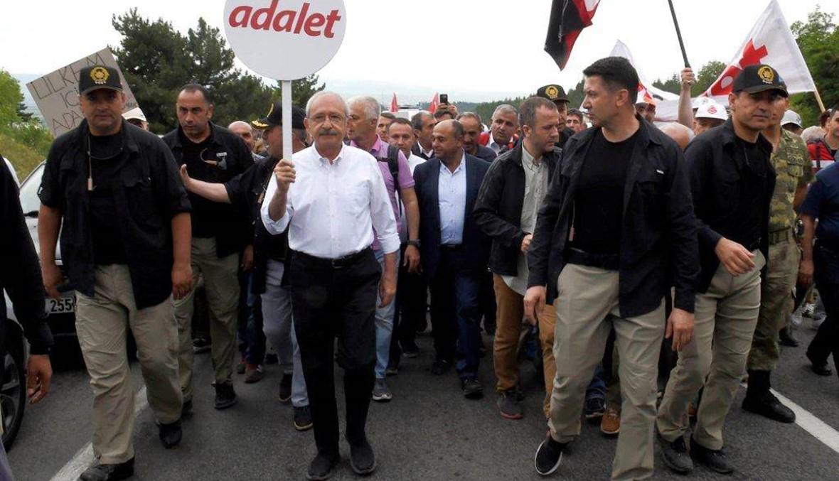 """""""لن نستسلم""""... زعيم المعارضة التركية يواصل سيره الى اسطنبول"""