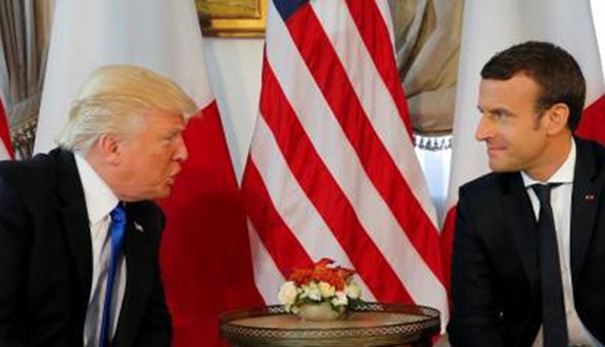 البيت الابيض: ترامب وماكرون بحثا سبل التصدّي لنفوذ إيران الضار