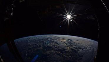 صورة لكوكب الأرض نشرها رائد الفضاء جاك فيشير من محطة الفضاء الدولية (الصورة نقلاً عن وكالة ناسا)