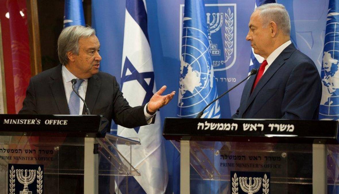 """غوتيريش إلتقى نتانياهو... إسرائيل تركّز على """"اليونيفيل"""" و""""حزب الله"""""""