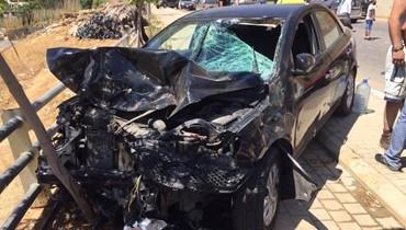 حادث بين سيارة وATV في فاريا... الجرحى في المستشفى (صور)