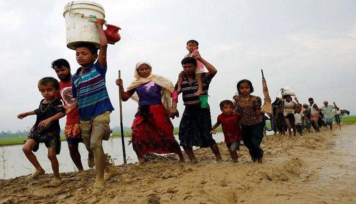 حركة نزوح الروهينغا الى بنغلادش تستأنف بكثافة بعد تراجع لأيام