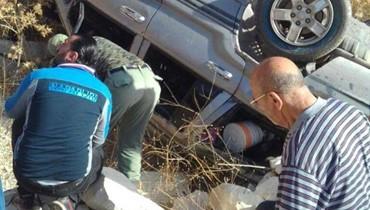 3 قتلى بانقلاب سيارة في لبايا