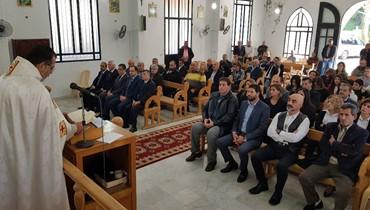 قداس في ذكرى استشهاد بيار الجميل في منيارة العكارية