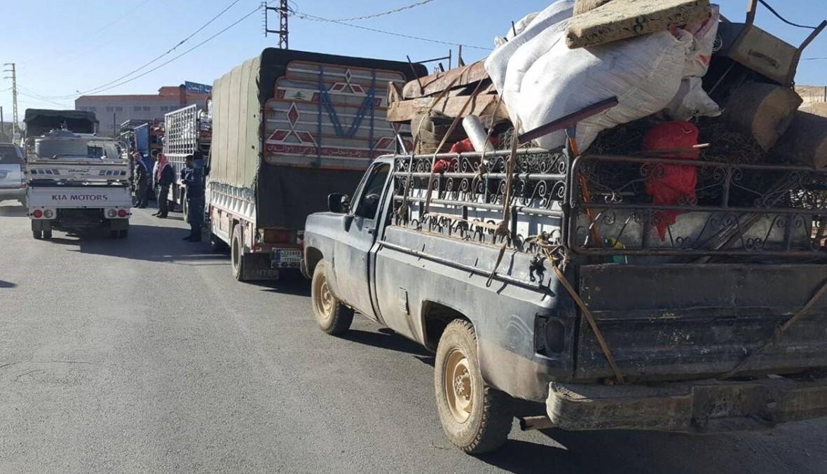 النازحون اللبنانيون والسوريون يعودون الى طفيل