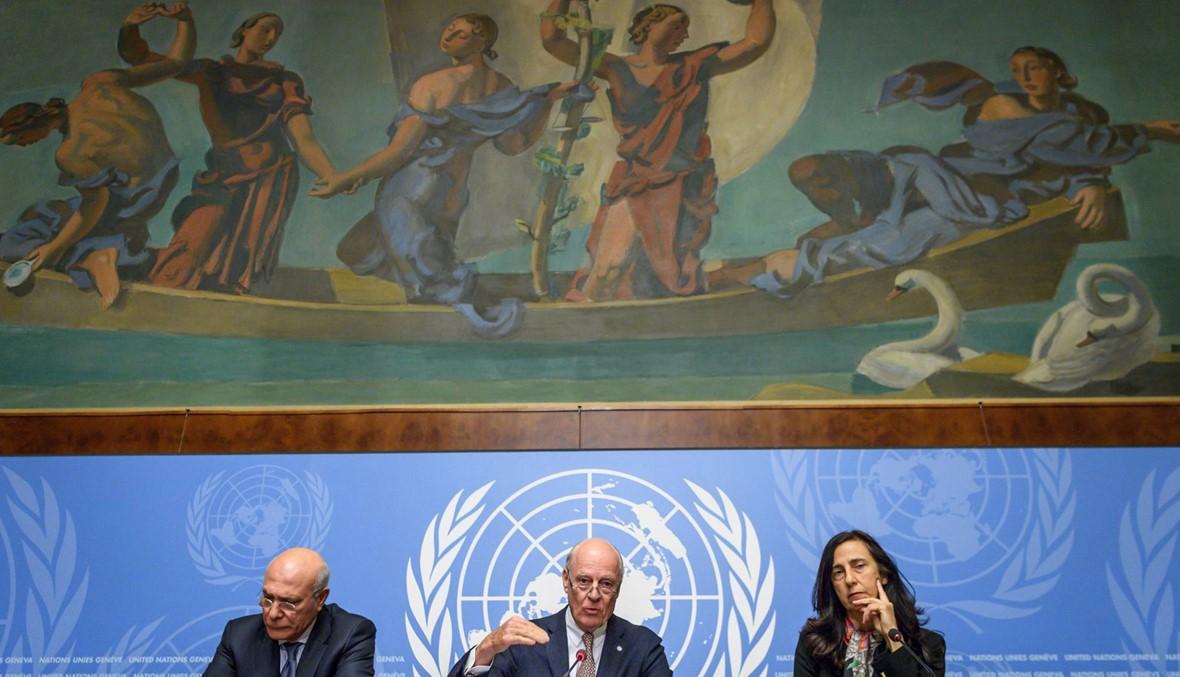 وفدا الحكومة السورية والمعارضة في قاعتين تفصل بينهما 5 أمتار