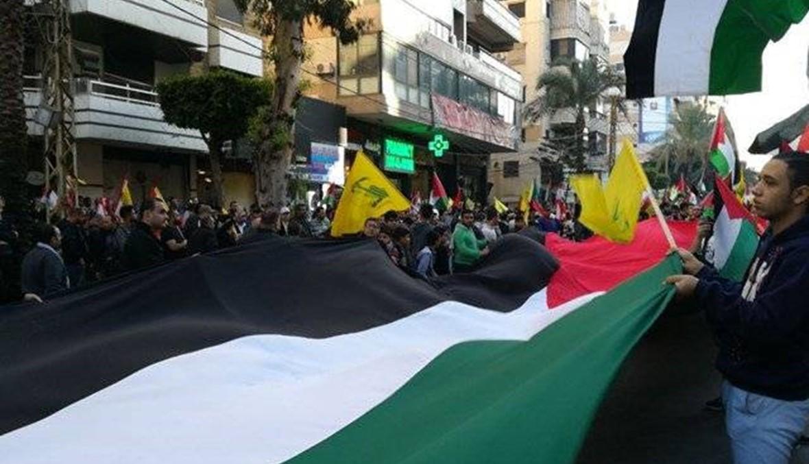حشود في الضاحية الجنوبية تلبية لدعوة حزب الله دعما للقدس