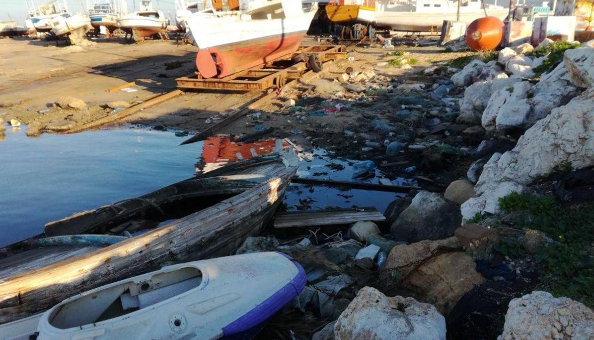 """صيادو الميناء يصطادون النفايات بدل الأسماك... """"إلى متى سنبقى على هذه الحال؟"""" (صور)"""