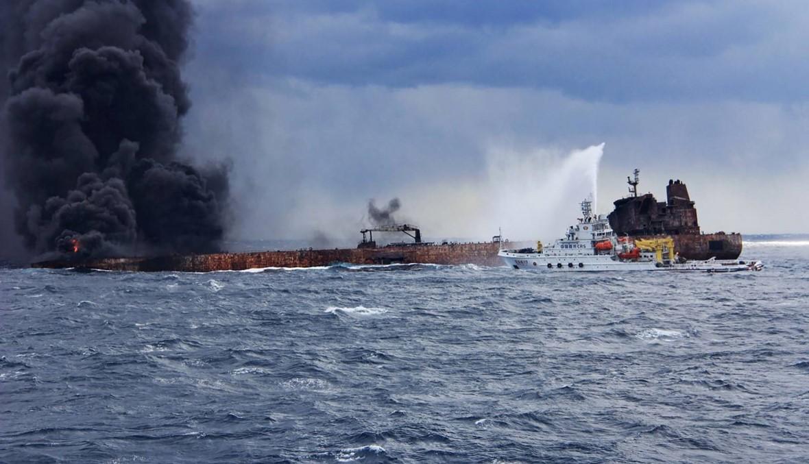 """طهران عن حريق ناقلة النفط: """"ليس هناك أي أمل"""" في العثور على ناجين"""