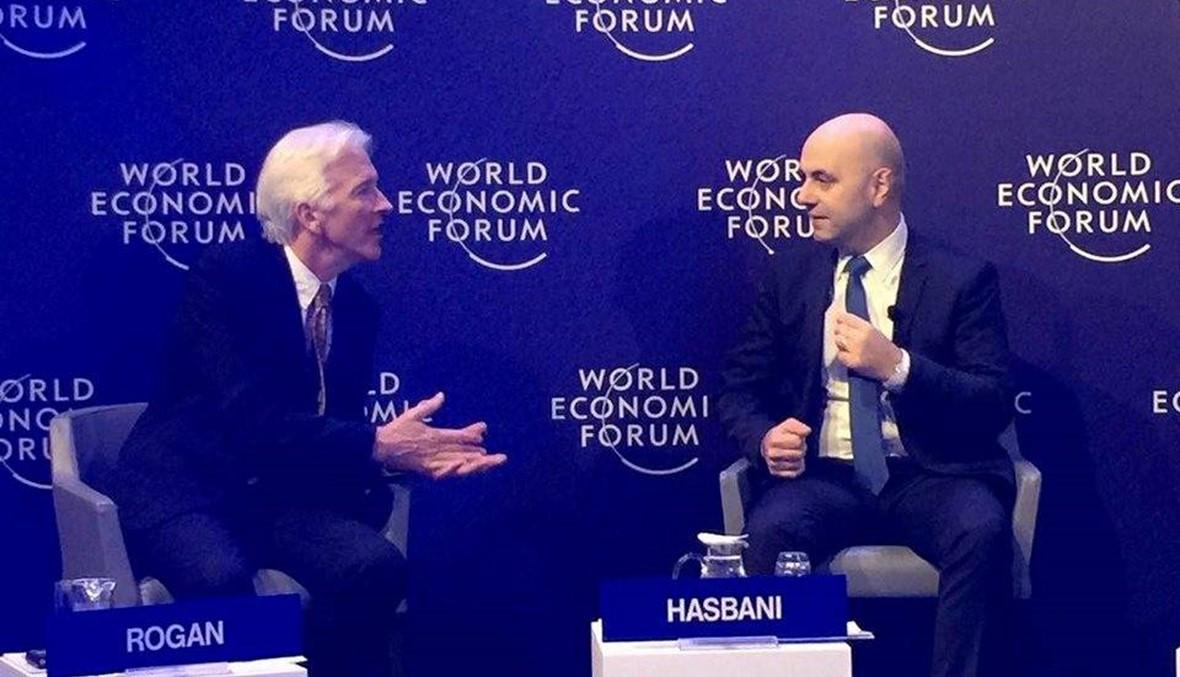 حاصباني من المنتدى الاقتصادي العالمي - دافوس: الاستقرار وبناء المؤسسات هما الضمانتان الأساسيتان للاستثمار في إعادة الإعمار