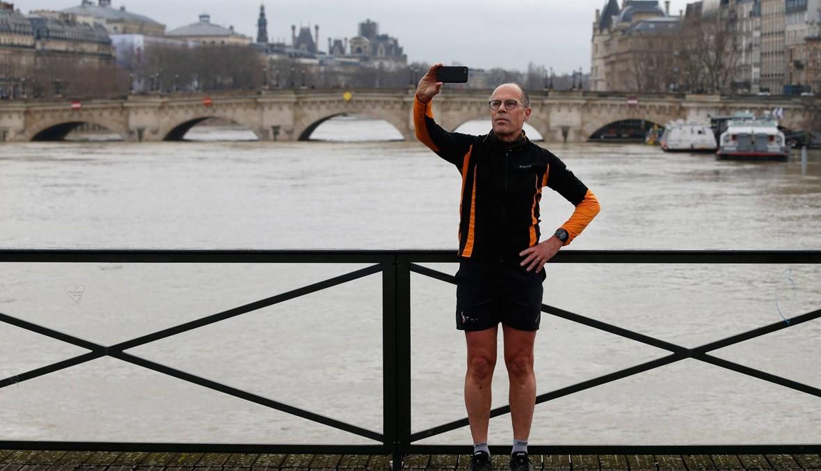 """صور- فيضانات في فرنسا... """"السين"""" يبلغ مستوى قياسيًّا"""