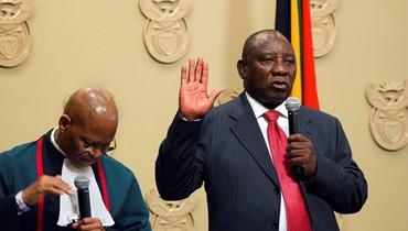 جنوب افريقيا تنتخب رئيسا جديدًا... رامافوزا يقسم اليمين أمام البرلمان