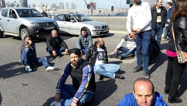 اعتصام للمياومين في شركة كهرباء لبنان... تدافع مع القوى الأمنية